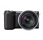 Sony NEX-5RK/B 16.1 MP Compact Interchangeable Lens Digital Camera with 18-55mm Lens and 3-Inch LCD (Black)