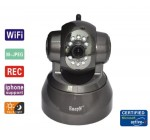 EasyN WiFi PanTlt     FS-613B-M166 Wireless/Wired Pan & Tilt IP Camera with 15 Meter Night Vision and 3.6mm Lens (67° Viewing Angle) – Coffee NEWEST MODEL