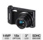 Samsung WB150F    Long Zoom Smart Camera – Black (ECWB150FBPBUS)