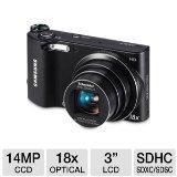 Samsung WB150F Long Zoom Smart Camera - Black (ECWB150FBPBUS)
