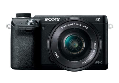 Sony NEX-6L/B 16.1 MP Compact Interchangeable Lens Digital Camera with 16-50mm Power Zoom Lens and 3-Inch LED (Black)